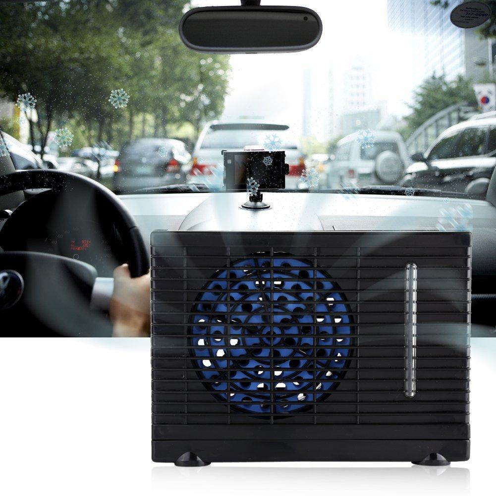 Zerodis 12V Ventilateur de Climatisation Portable Auto Mini de Voiture Climatiseur Cool Ventilateur de Voiture Fen/être Air Vent Ventilateur Refroidisseur