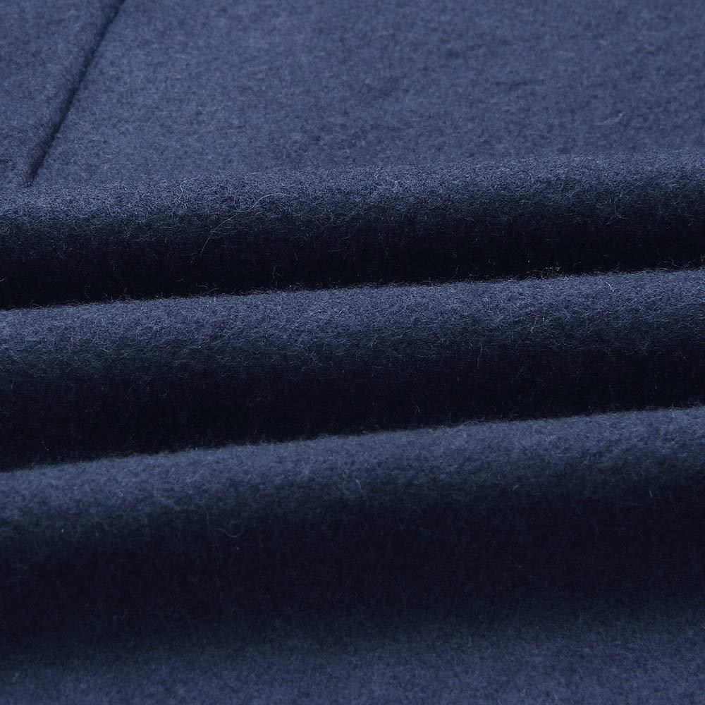 Rcool Trench Cappotto V-Collo Cardigan Pelle Legato Maniche Lunghe Autunno Invernale Cappotti Caldo Elegante Parka Casuale Giubbotto Giacca Donna Lungo