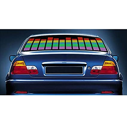 Autofier Car Sticker Music Rhythm Led Flash Light Lamp Sound