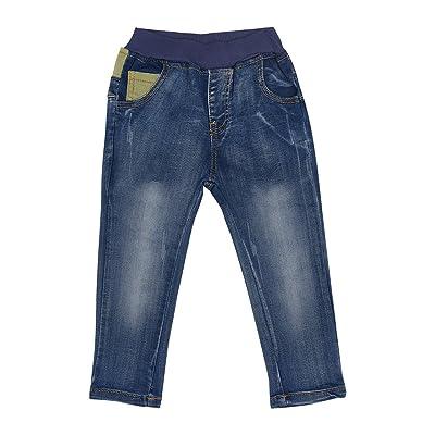 DDSOL Boys Slim Skinny Jeans Waist Stretch Trouser Elastic Comfor Pant 2-9 Years