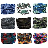 Amazon Price History for:Kingree 9PCS Headbands, Outdoor Multifunctional Headwear, Sports Magic Scarf, High Elastic Headband with UV Resistance, Athletic Headwrap, Mens Sweatband, Womens Hairband