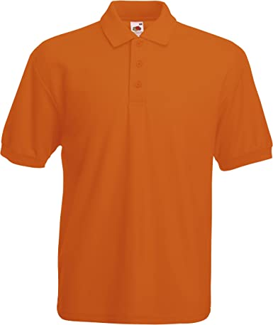 Fruit of the Loom - Polo - para Hombre Naranja: Amazon.es: Ropa y ...