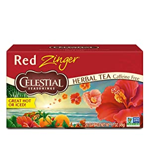 Celestial Seasonings Herbal Tea, Red Zinger, 20 Count (Pack of 6)