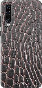 Stylizedd Huawei P30, Slim Snap Basic Case Cover Matte Finish - Cowhide Leather, Brown-Black