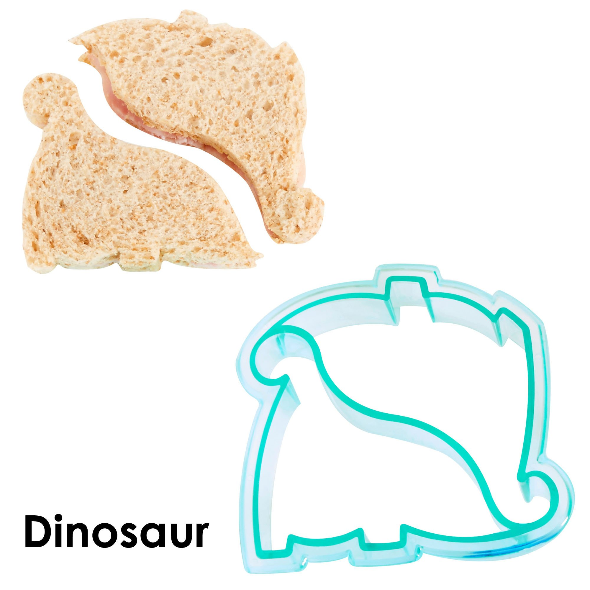 VonShef Fun Cookie Cake and Sandwich Cutter Shapes for Kids, Set of 5 Shapes Dinosaur, Dolphin, Heart, Star and Train, Multi Colored, 5pc by VonShef (Image #6)