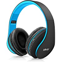 Bluetooth Headphones Wireless,MKay Over Ear Headset V5.0 with Microphone, Foldable & Lightweight, Support Tf Card MP3…
