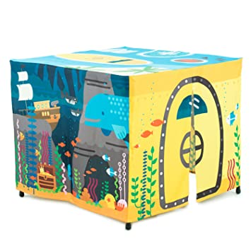 HIDEABOO Hideout Polyester Standard Card Table Cover Kids Fort Underwater Submarine