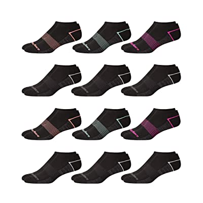 'New Balance Women's Athletic Arch Compression Cushioned Low Cut Socks (12 Pack), Black Assorted, Size Shoe Size: 4-10' at Women's Clothing store