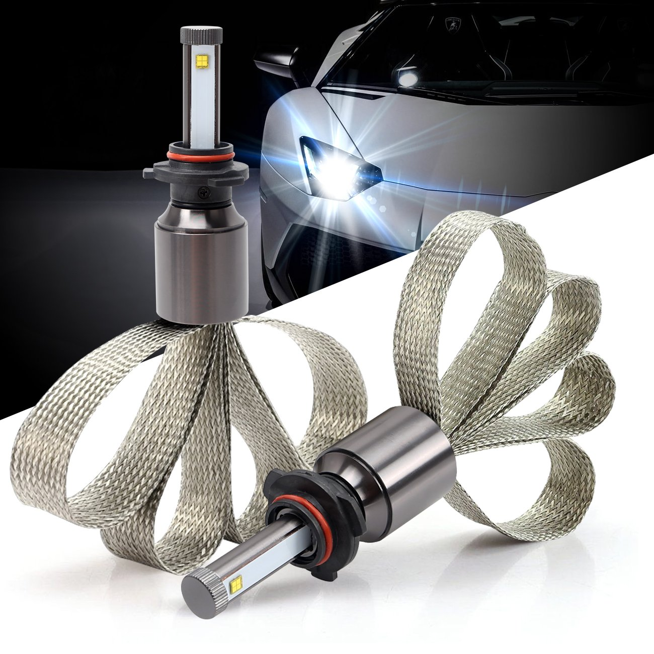 Pack of 2 Green-L LED Headlight Conversion Kit Copper Heat Dissipation H11 90W 9800lm CREE XHP-50 Chips 6000k White Plug /& Play