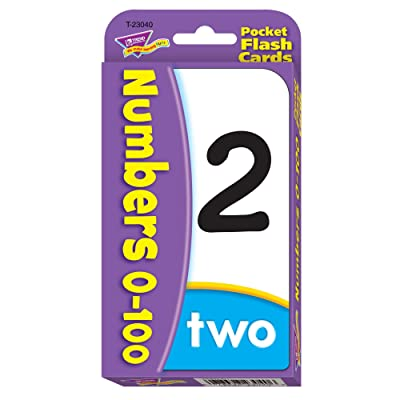 Numbers 0-100 Pocket Flash Cards: Toys & Games