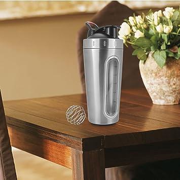 Coctelera de acero inoxidable botella (0,8 kg, sin BPA licuadora ...
