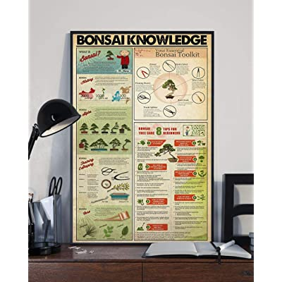 HolyShirts Bonsai Knowledge Your Essential Bonsai Toolkit Poster (16 inches x 24 inches): Home & Kitchen