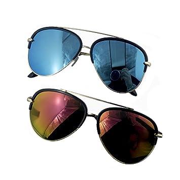 b42bfa2497c00 HAND® 2 Paires de Protection 100% UV400 élégant Upper Lunettes de Soleil  Style aviateur