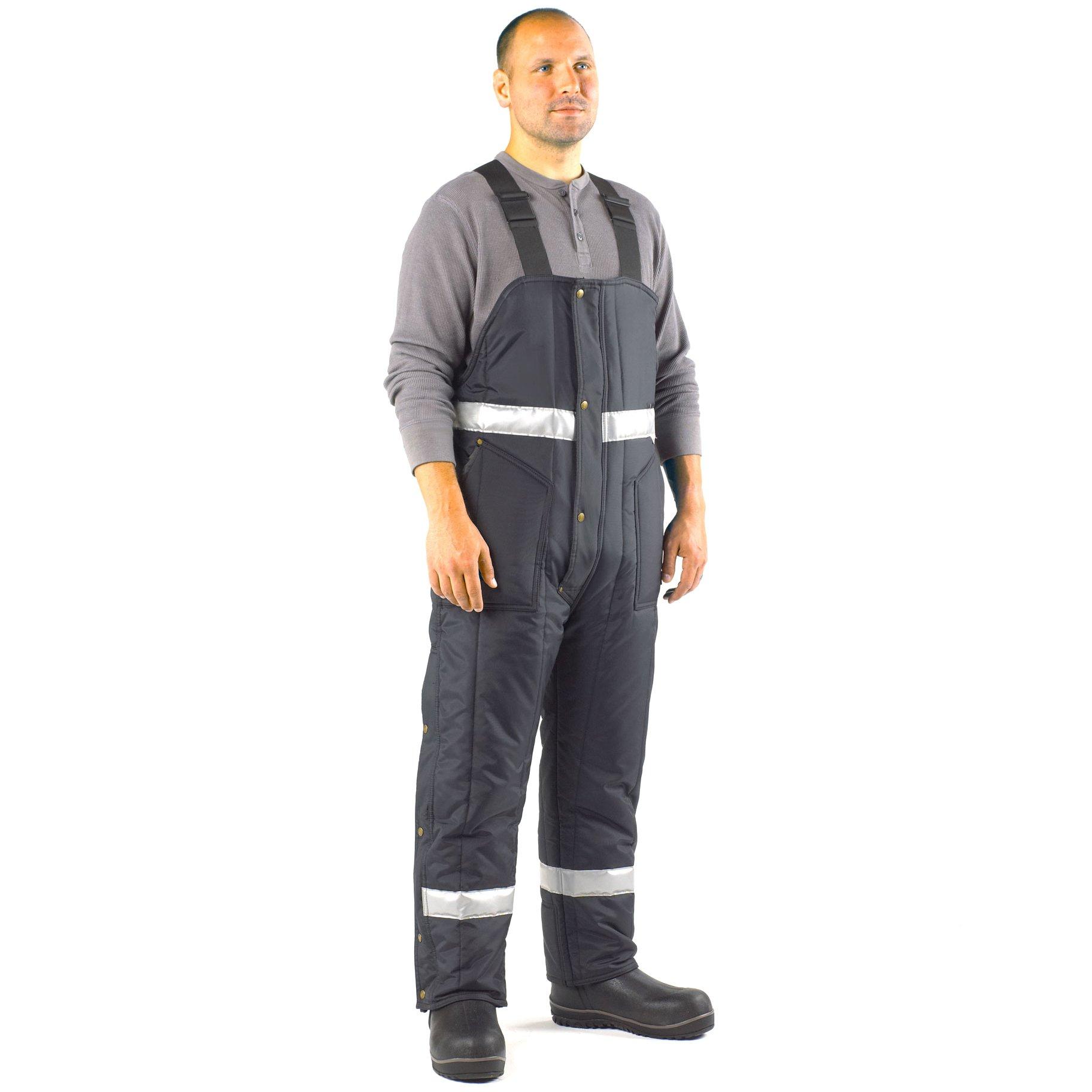 RefrigiWear Men's Iron-Tuff Enhanced Visibility High Bib, Navy, 3XL Short by Refrigiwear (Image #3)