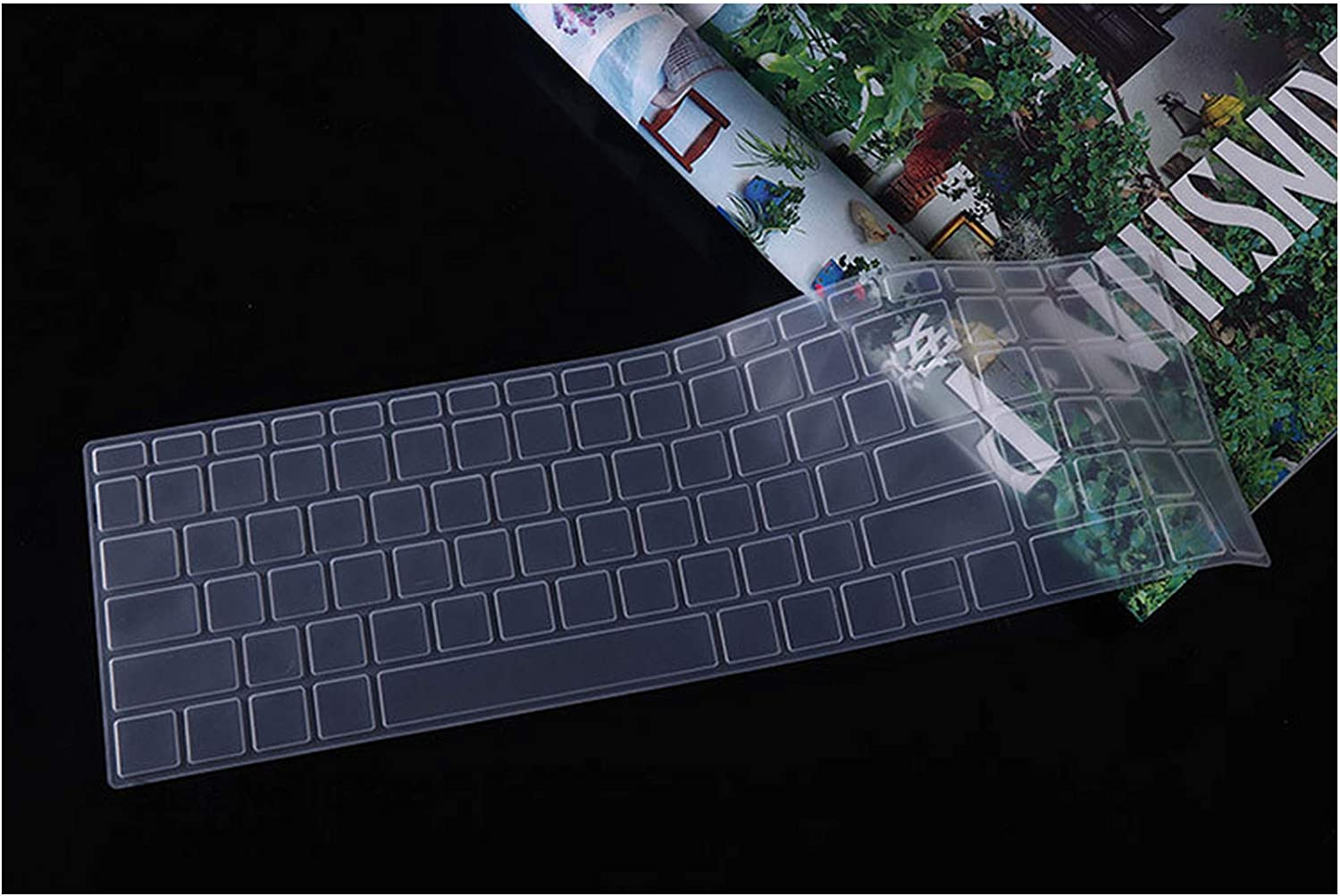 15.6 Inch Laptop Keyboard Cover Protector Skin Compatible for HP 250 G6 256 G6 356 G6 17 X104tx 17Q 17g Br Bu Cr Bs Br TPN I133 W129 17.3,Black