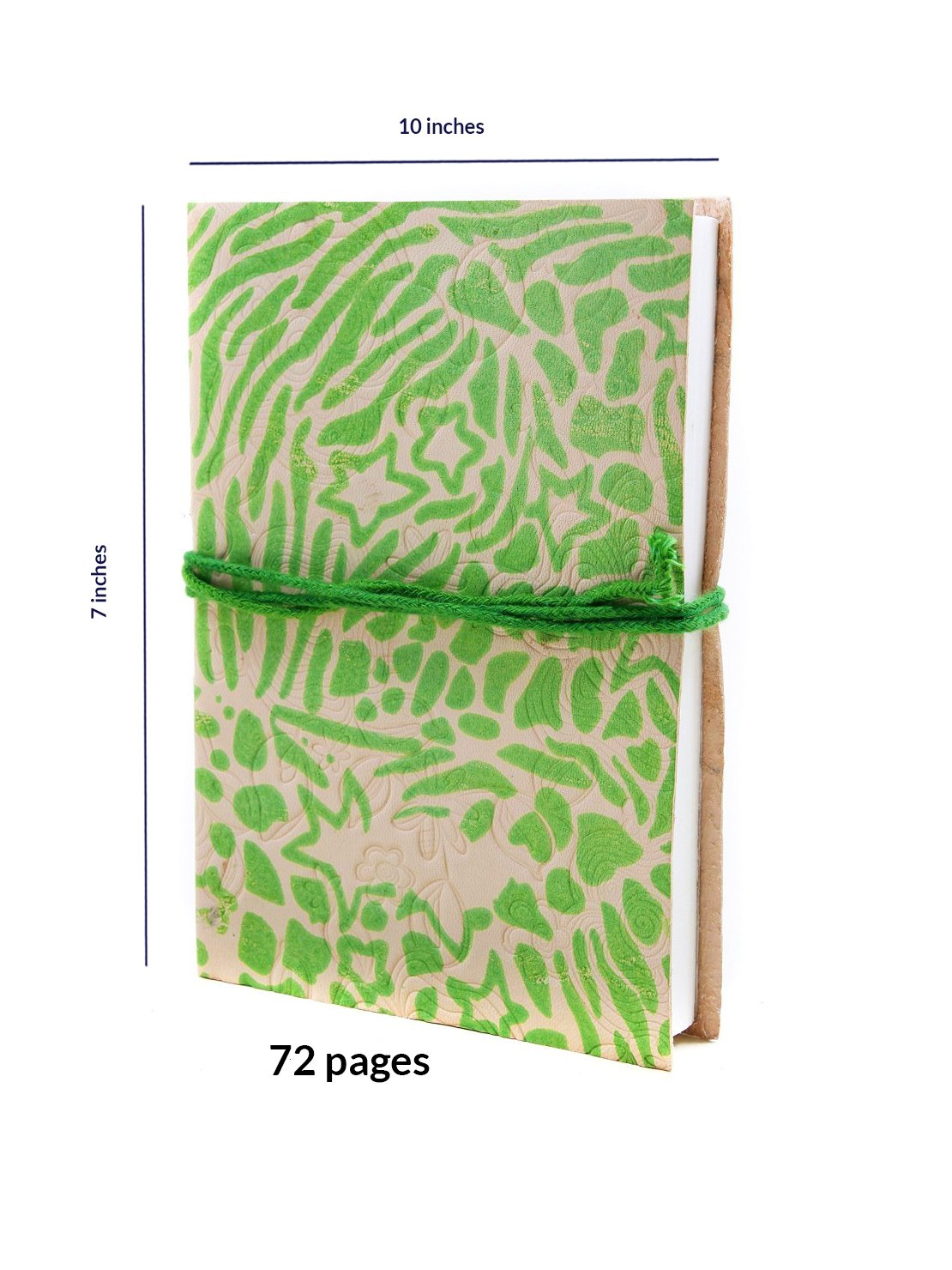 Store Indya, Leather Travel Diary Unlined Journal Notebook Hand Embossed with 72 Eco-friendly Papers storeindya