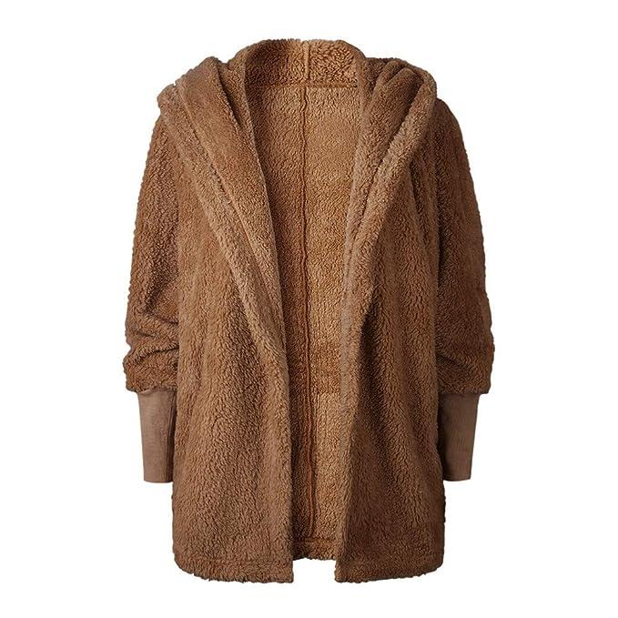 DAYLIN 2018 Mujer Otoño Invierno Abrigos con Capucha Moda Color Sólido Chaquetas Cárdigan Outwear Saltador Tops: Amazon.es: Ropa y accesorios