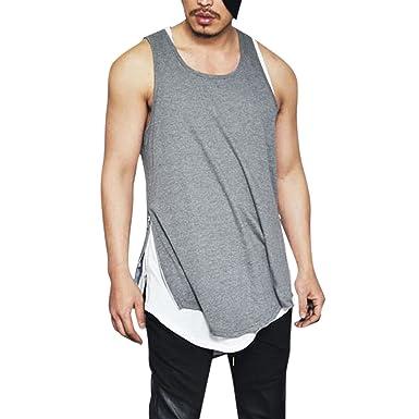 a323100e138727 semen Herren Männer Lange Reißverschluss T-Shirt Streetwear Hip Hop Bluse  Hemd Poloshirt Slim Fit