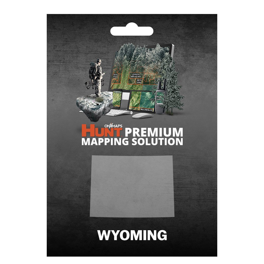 onXmaps HUNT Wyoming: Digital Hunting Map For Garmin GPS + Premium Membership For Smartphone and Computer - Color Coded Land Ownership - 24k Topo - Hunting Specific Data