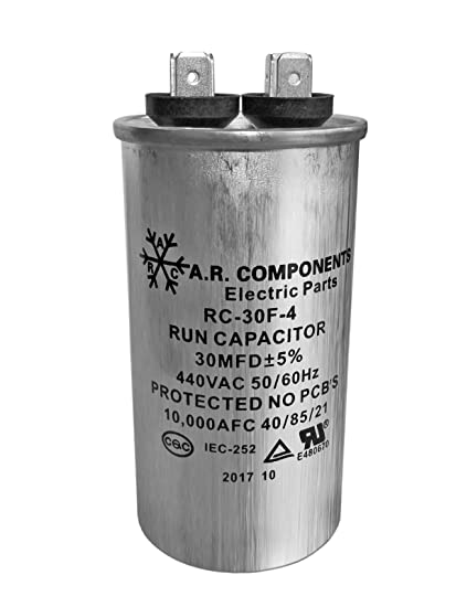 UL Certified RUN CAPACITOR 40 MFD 440 VAC ROUND CAN 1 Pack of