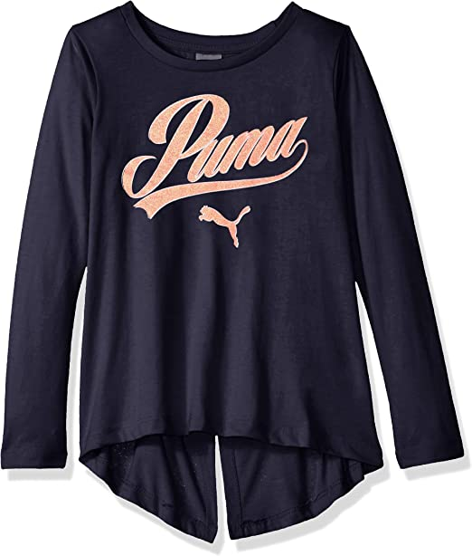 PUMA Girls Girls Folder Back T-Shirt T-Shirt