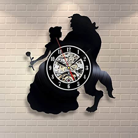 Beauty and the Beast Vinyl Record Clock Home Design Room Art Decor