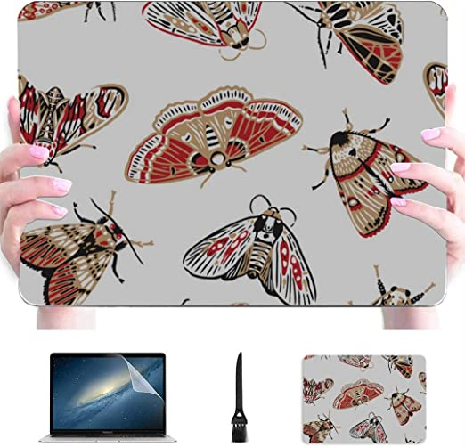 Macbook Air 13 Pulgadas Hermosa y Brillante Polilla de Dibujos Animados Carcasa Dura de plástico Compatible Mac Macbook Pro 15 Accesorios Accesorios de protección para Macbook con Alfombrilla de Rat: Amazon.es: Electrónica