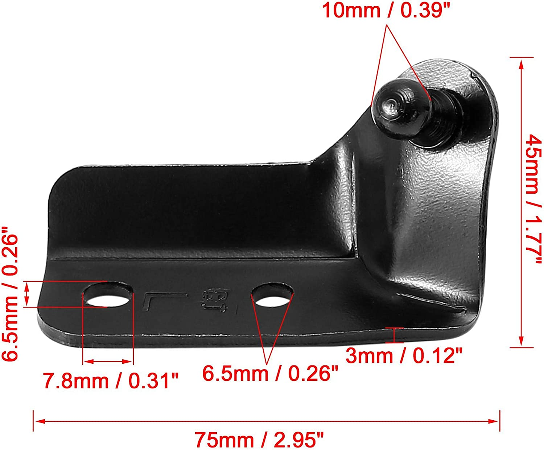 X AUTOHAUX 4pcs 10mm Car Ball Studs Mounting Brackets Black for Gas Struts Shocks 75x45x22mm