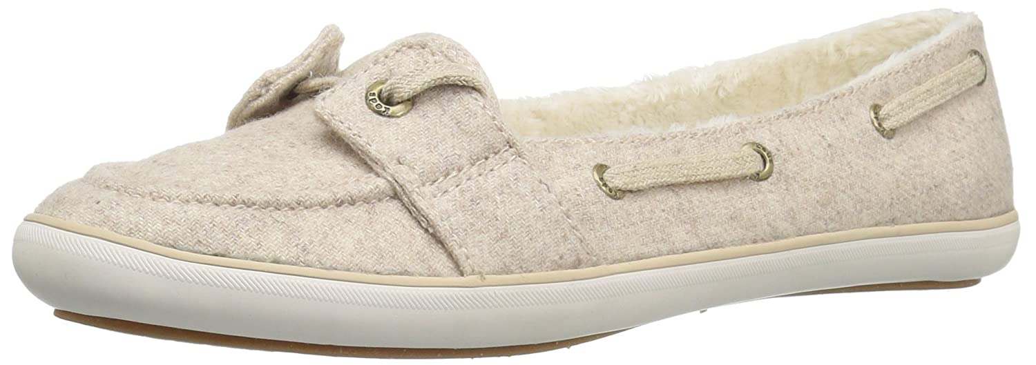 Keds Women's Teacup Boat Wool Shearling Fashion Sneaker B01AVPNQU4 8 B(M) US|Oatmeal