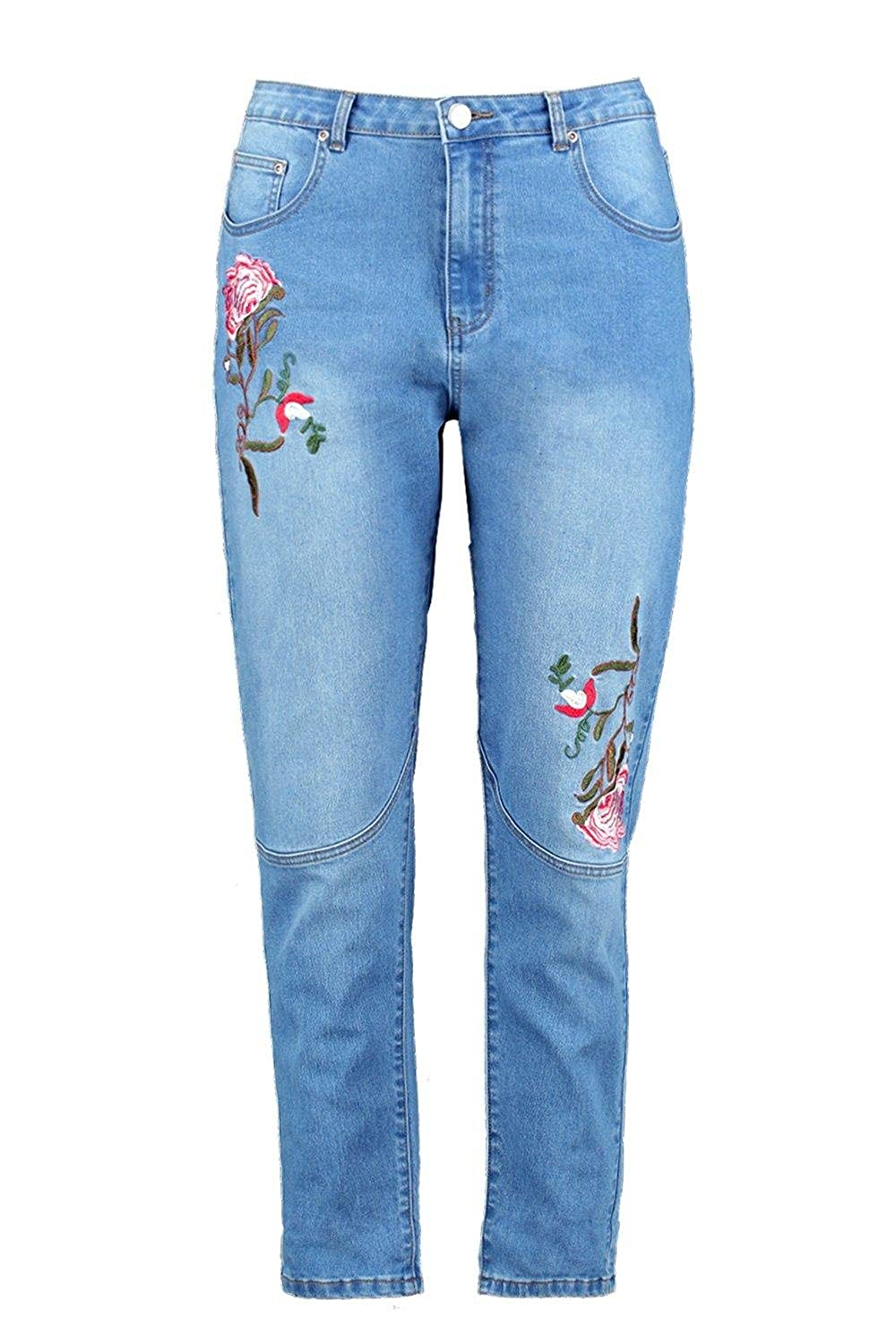 03e4c5ff8b1 Boohoo Womens Plus Size Orla Embroidered Skinny Jean well-wreapped ...