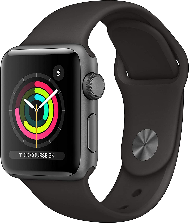 Apple Watch Series 3 Reloj Inteligente Gris OLED GPS (satélite) - Relojes Inteligentes (OLED, Pantalla táctil, GPS (satélite), 18 h, 26,7 g, Gris)
