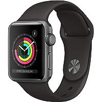 Apple Watch Series 3 (GPS, 38‑mm) - Kast van SpaceGrijs Aluminium Zwart Sportbandje