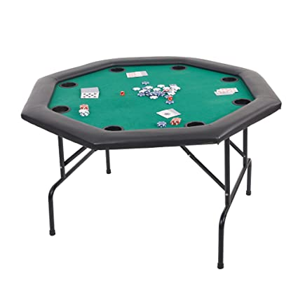 Amazon dportiucs games 48 octagon poker table with folding dportiucs games 48quot octagon poker table with folding steel legs and cup holders green watchthetrailerfo