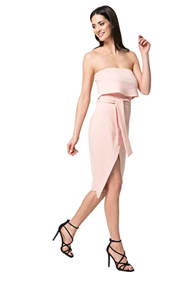 1f0303895c3a MOS Fashionable Summer Dress Pleated Dress Casual Leisure Midi Dress  Sleeveless Envelope Dress Nude Shoulders Elegant Youth Girls Women for a  Party M034 ...