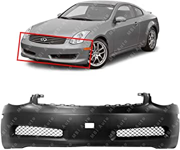 Crash Parts Plus Primed Front Bumper Cover Replacement for 2003-2007 Infiniti G35 Coupe