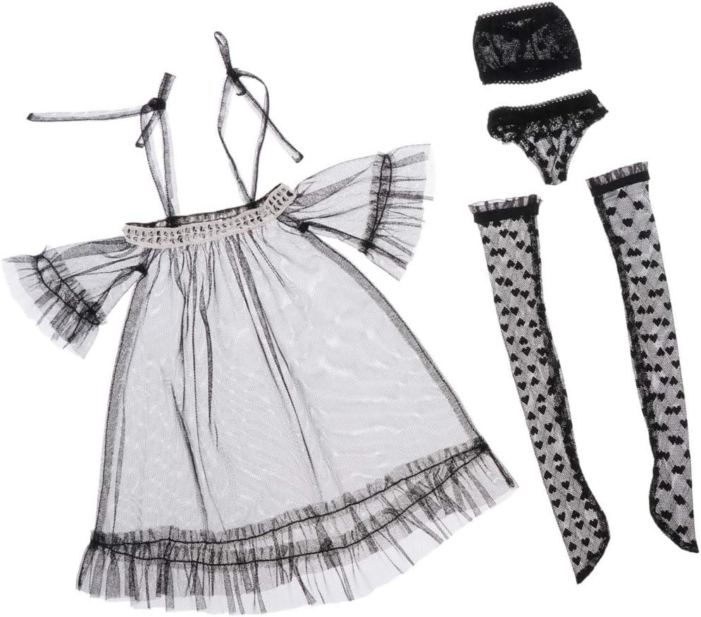 Toygogo 1//3 BJD Puppenkleider Set Modepuppen Pretend Play Rosa Unterw/äsche /& Str/ümpfe Outfit F/ür AS DZ Ball Jointed Dolls Kleidung Prinzessin Kleid