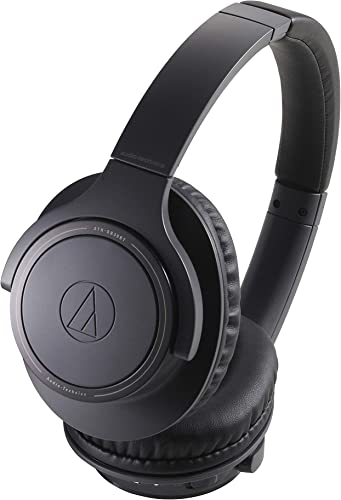 Audio-Technica ATH-SR30BTBK Bluetooth Wireless Over-Ear Headphones, Charcoal Gray