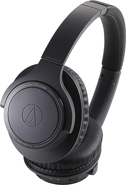 Audio Technica ATH-SR30BTBK Sound Reality Bluetooth Wireless Over-Ear Headphones with Microphone (Black): Headphones & Earphones: Amazon.com.au