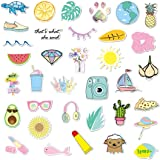 Honch Vinyl Stickers Pack Aesthetic Vsco 35 Pcs Decals for Laptop Ipad Car Suitcase Luggage Water Bottle Helmet