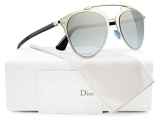 Christian Dior Reflected Sonnenbrille Hellgold und Schwarz EEI 52mm LAgpFl3BGR