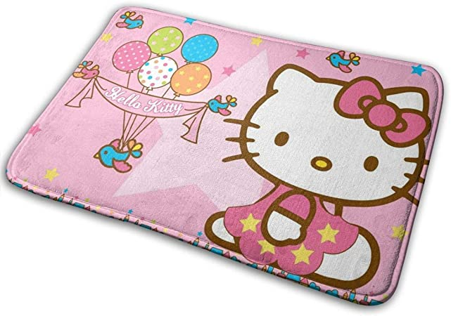 Amanda Walter Alfombrilla Hello Kitty con Entrada para pájaros y Estrellas Alfombrilla de Entrada Pulgadas Antideslizantes Exterior: Amazon.es: Hogar