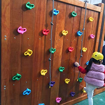Plastic Climbing Stones Holds /& Grips Leezo Resin Children Kids Climbing Rock Claws Outdoor Thickened Grip Rock Stone Climbing Wall Stones Hands And Foot Holding Grip Kit