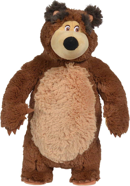 Masha and the Bear Masha Plush Bear, Toys for Kids, Ages 3+, Brown