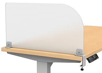 office desk divider. Merge Works Studio Wing Desktop Privacy Panel \u2013 Frosted Acrylic Clamp-on Desk Divider Office T