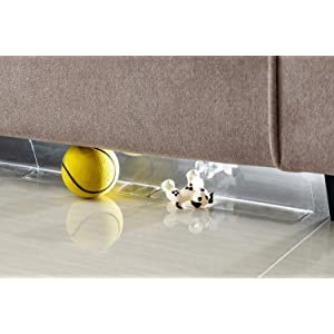 BOWERBIRD Clear Toy Blocker - Stop Things from Going Under Couch Sofa and Other Furniture