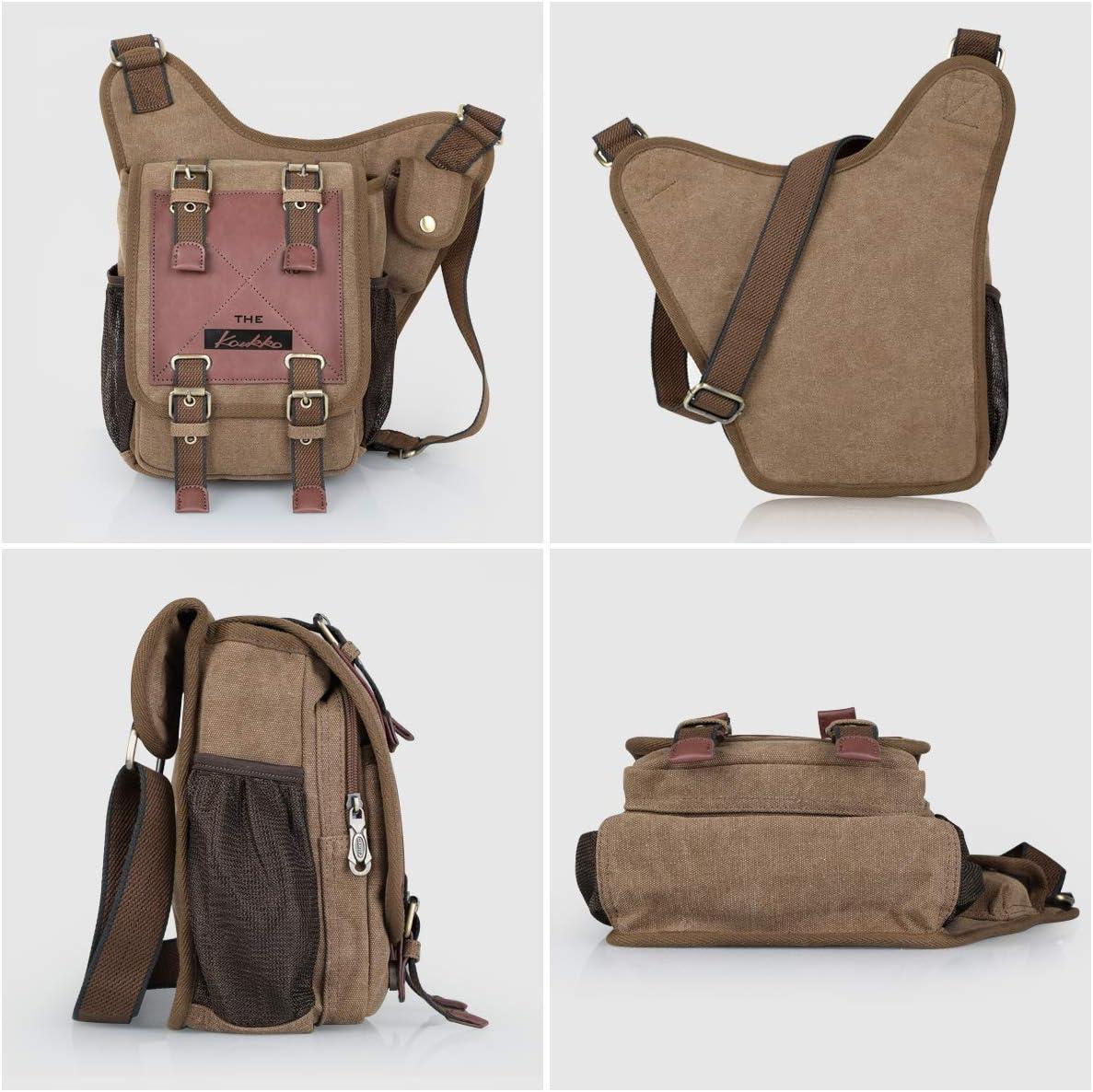 MG8540 Military Style Cotton Canvas Backpack School Bag Messenger Bag,Hiking