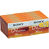 Sony 10DVM60PR - Mini DV videocasete (10 unidades, 60 min)