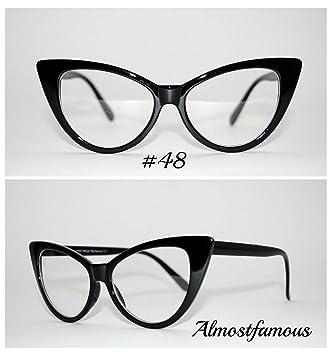 dffaa7926d Rockabilly Cat Eye Black VTG 50s 60s Style womens Cat Eye Sunglasses Retro  Rockabilly Glasses