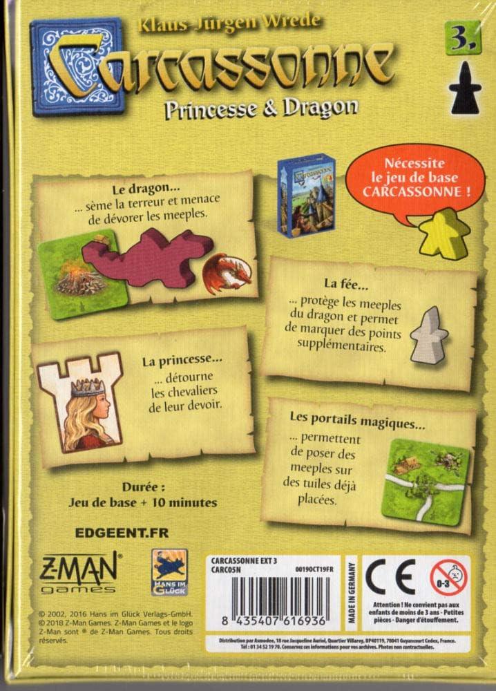 carc05/N Princesa /& Dragon Asmodee Carcassonne-Extension 3