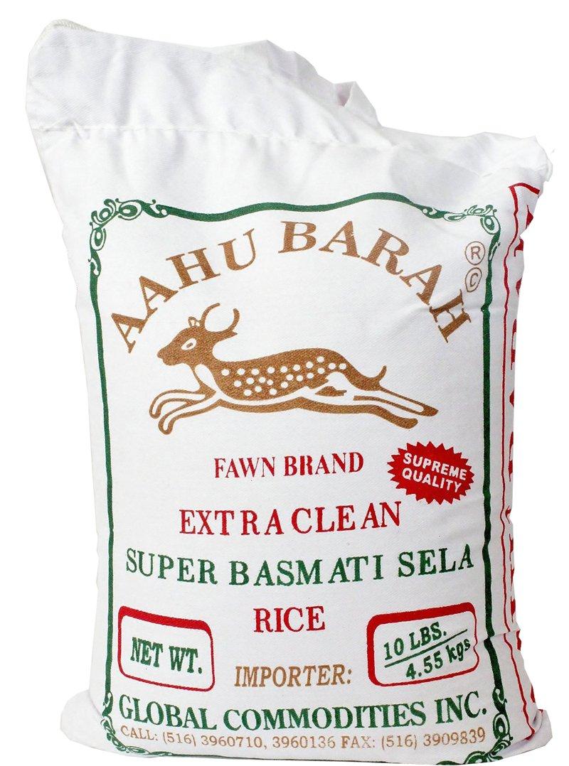 Aahu Barah Basmati Sela Rice 10lb (Pack of 2)